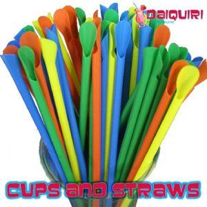 Cups & Straws (50 Pack) - Daiquiri Hire Melbourne
